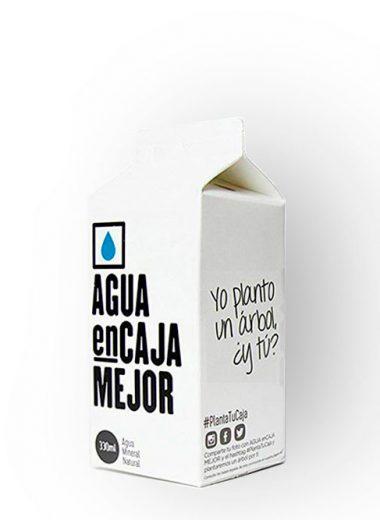Agua en caja canaria 330 ml